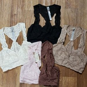 Free People Galoon Lace Bralette Bundle (5)
